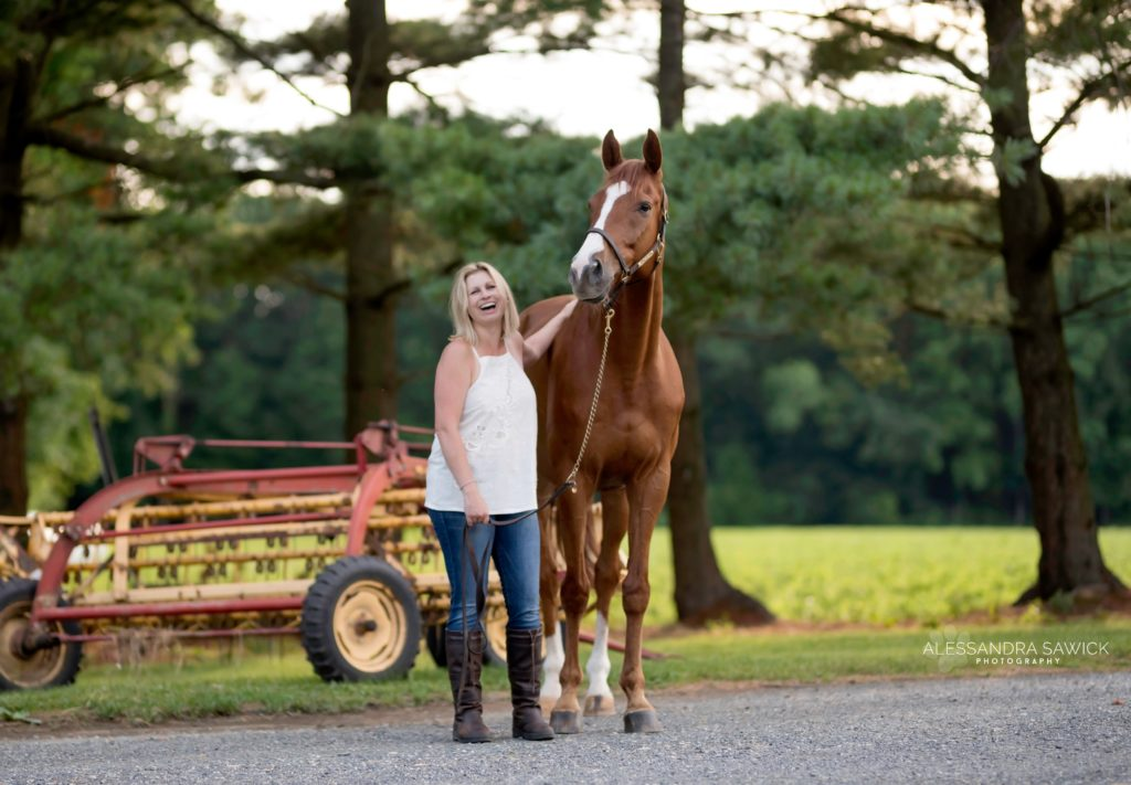Picture of woman and horse